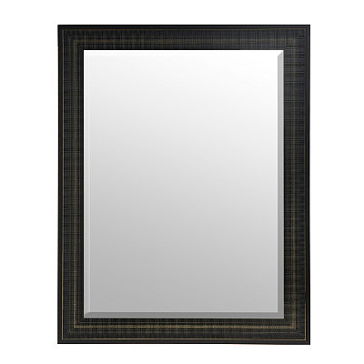 Chiseled Charcoal Framed Mirror, 47x37