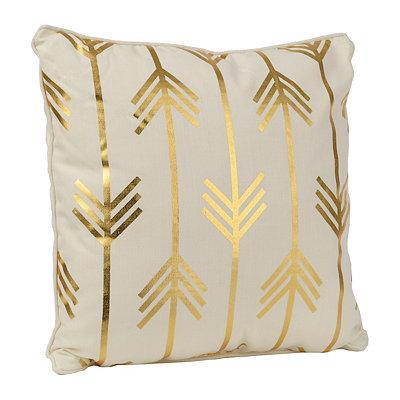Metallic Golden Arrows Pillow
