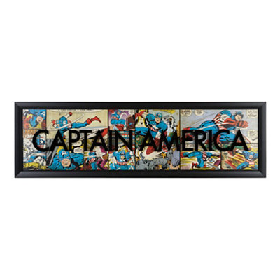 Captain America Comic Book Panel Shadowbox