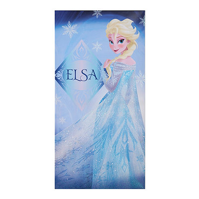 Blue Glitter Elsa Canvas Art Print