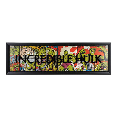The Incredible Hulk Comic Book Panel Shadowbox