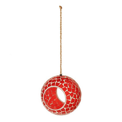 Red Mosaic Bird Feeder