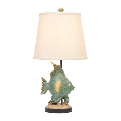 Daphnella Teal Fish Table Lamp