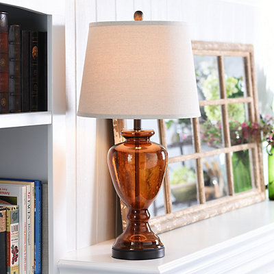 Amber Urn Table Lamp