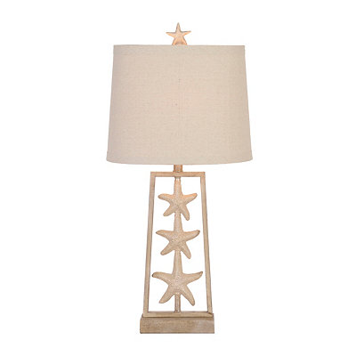 Natural Triple Starfish Table Lamp