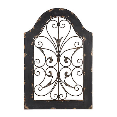 Carlsbad Distressed Black Arch Plaque