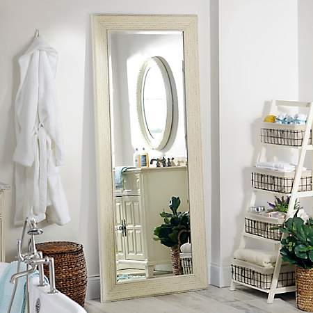 White Shabby Full Length Mirror 33 2x79 2 In Kirklands