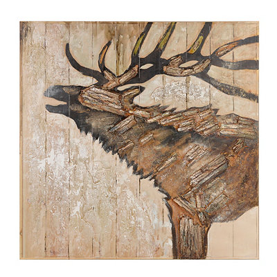 Rustic Elk Wood Art