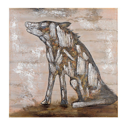 Rustic Wolf Wood Art