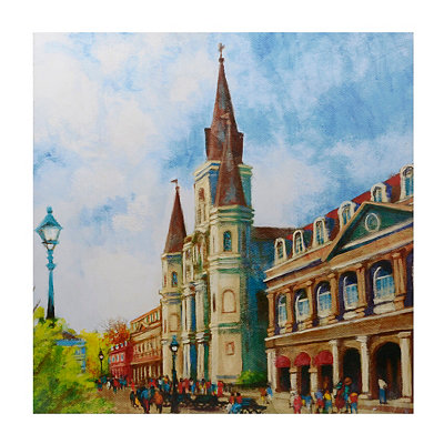 Jackson Square Cathedral Canvas Art Print