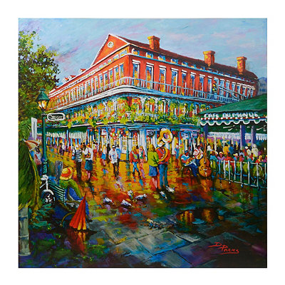 An Evening on Decatur Street Canvas Art Print