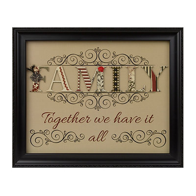 We Have It All Family Shadowbox