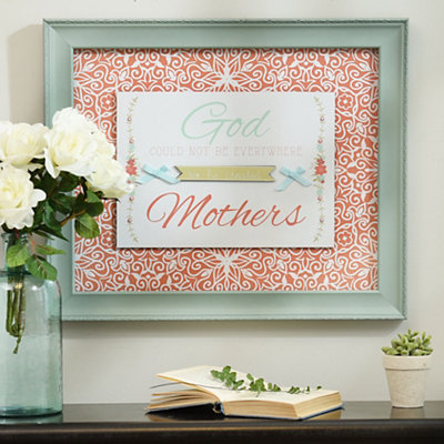 God Created Mothers Shadowbox