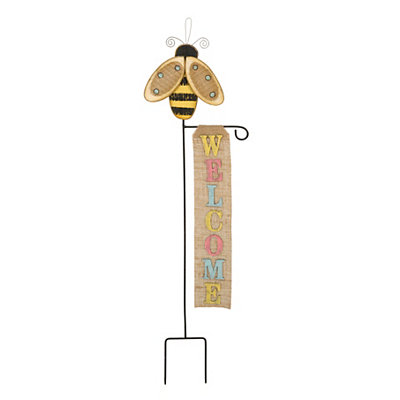 Bee Welcome Yard Stake