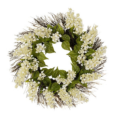 Cream Lilac and Vine Wreath