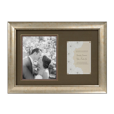 Antique Silver Wedding Invitation Collage Frame
