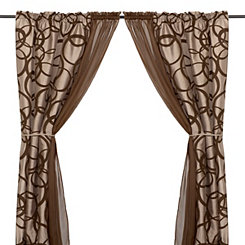 Metro Chocolate 6-piece Curtain Panel Set, 84 in.