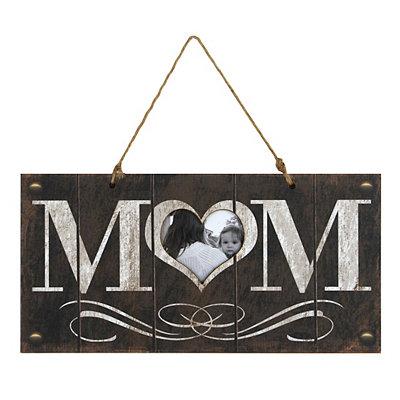 Mom Wooden Hanger Picture Frame, 4x4