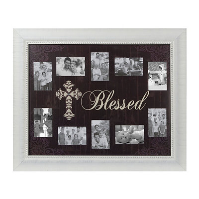 Black and White Blessed Collage Frame