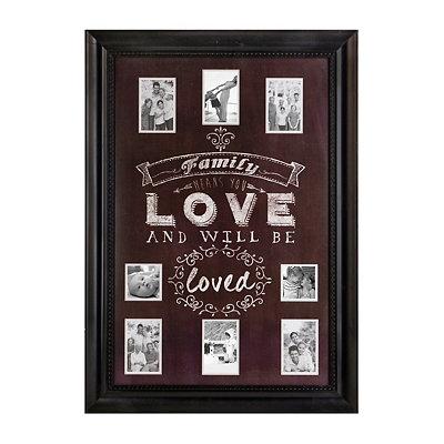 Family Love Chalkboard Art Collage Frame
