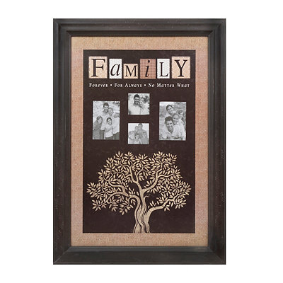 Brown Family Tree Collage Frame