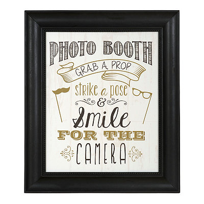 Black Photo Booth Framed Art Print