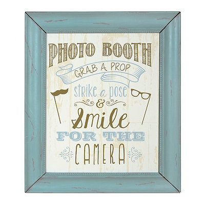 Blue Photo Booth Framed Art Print