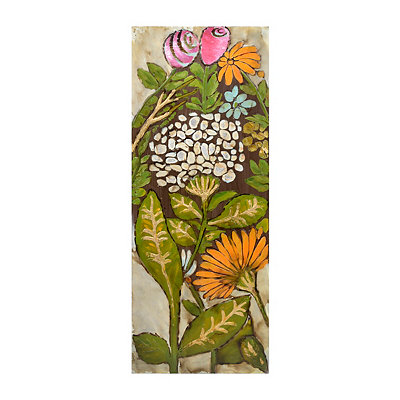 Floral Panel I Framed Canvas Art Print