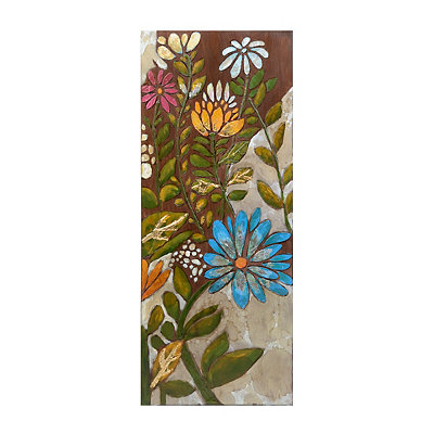 Floral Panel II Framed Canvas Art Print