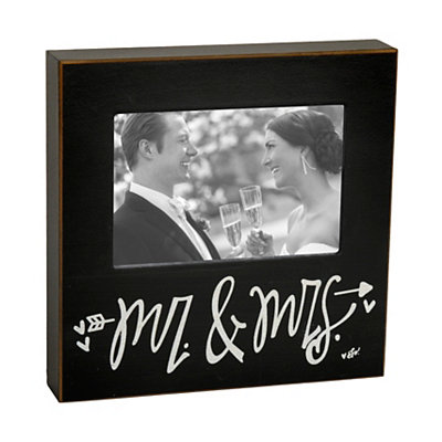 Black Mr. & Mrs. Picture Frame, 4x6