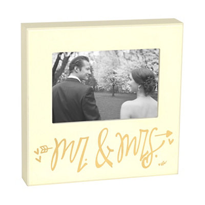 Ivory Mr. & Mrs. Picture Frame, 4x6