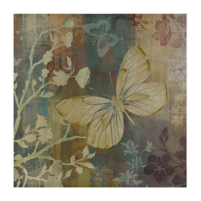Blue and Brown Butterfly Canvas Art Print