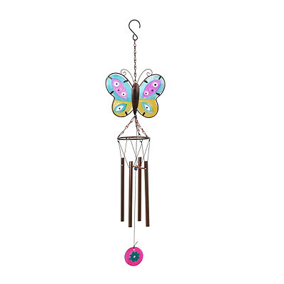 Glass Butterfly Wind Chime