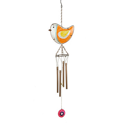 Orange Bird Wind Chime