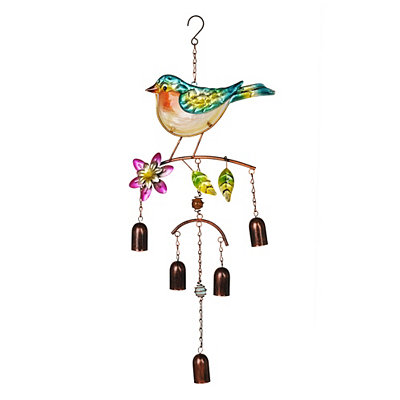 Glass Blue Bird Wind Chime