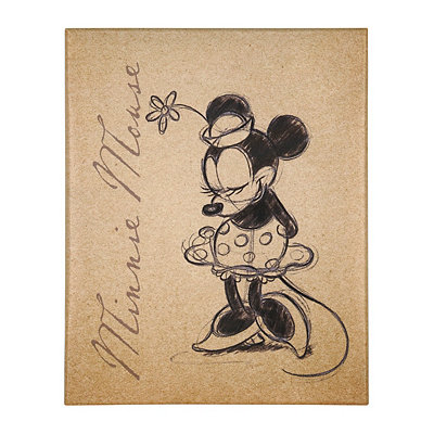 Minnie Mouse Sketch Canvas Art Print