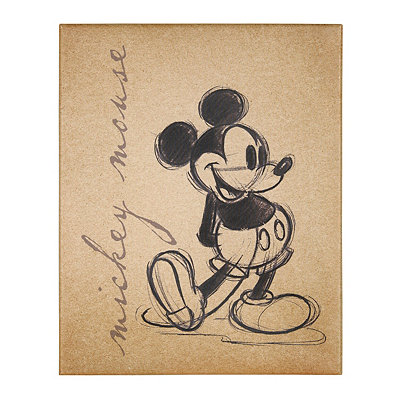 Mickey Mouse Sketch Canvas Art Print