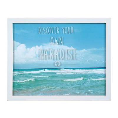 Discover Your Paradise Framed Art Print