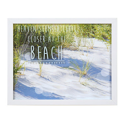 Heaven Seems Closer at the Beach Framed Art