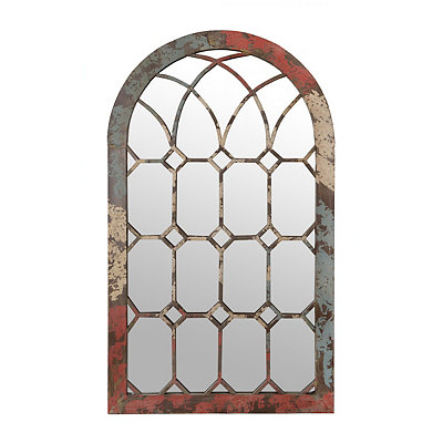 Distressed Gloria Arch Mirror