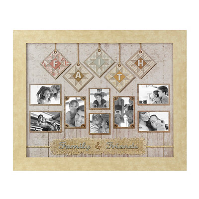 Faith, Friends, and Family Quilt Collage Frame
