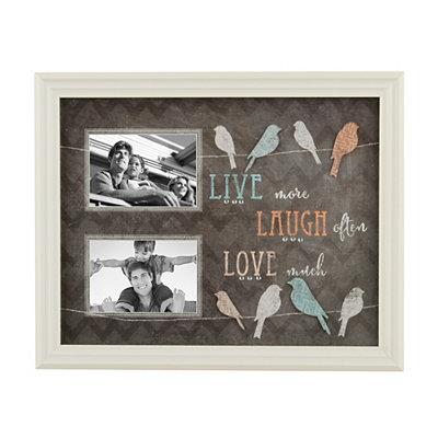 Live Laugh Love Chalk Art Collage Frame