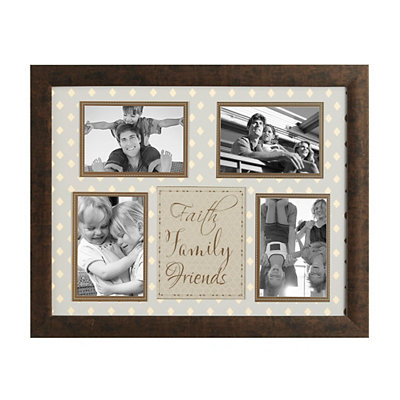 Faith Family Friends Metallic Collage Frame