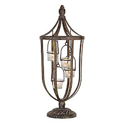 Distressed Bronze Bird Cage Tealight Candle Holder