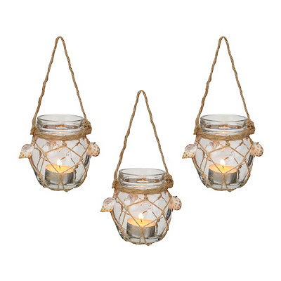 Hanging Coastal Candle Holders, Set of 3