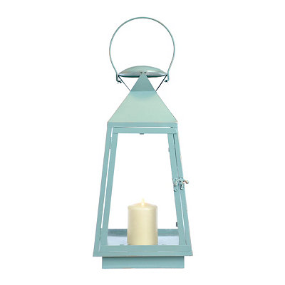 Blue Retro Metal Lantern