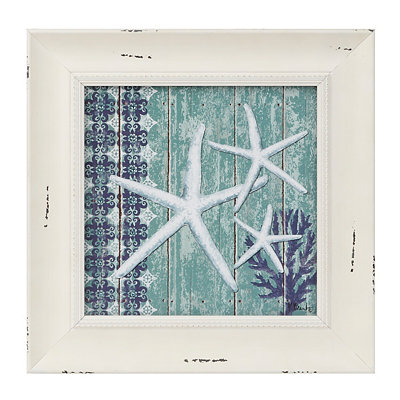 Blue Starfish Framed Art Print