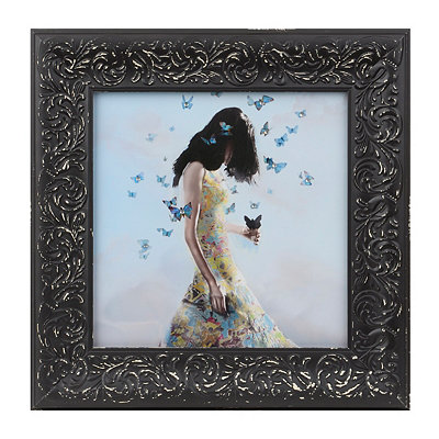 Butterfly Girl I Framed Art Print