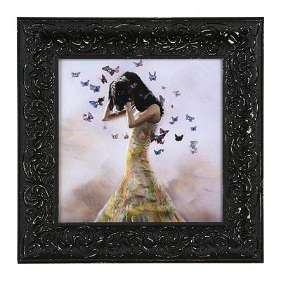 Butterfly Girl II Framed Art Print