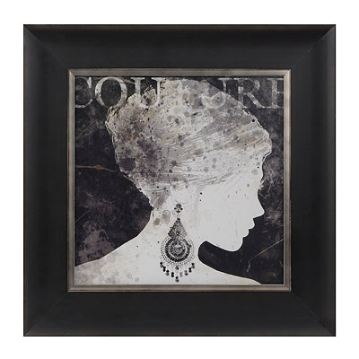 Black Couture Silhouette Framed Art Print